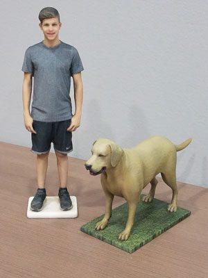 Boy & Dog models
