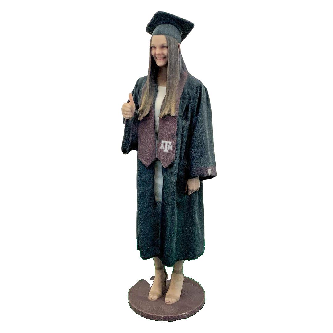 Graduate figurine