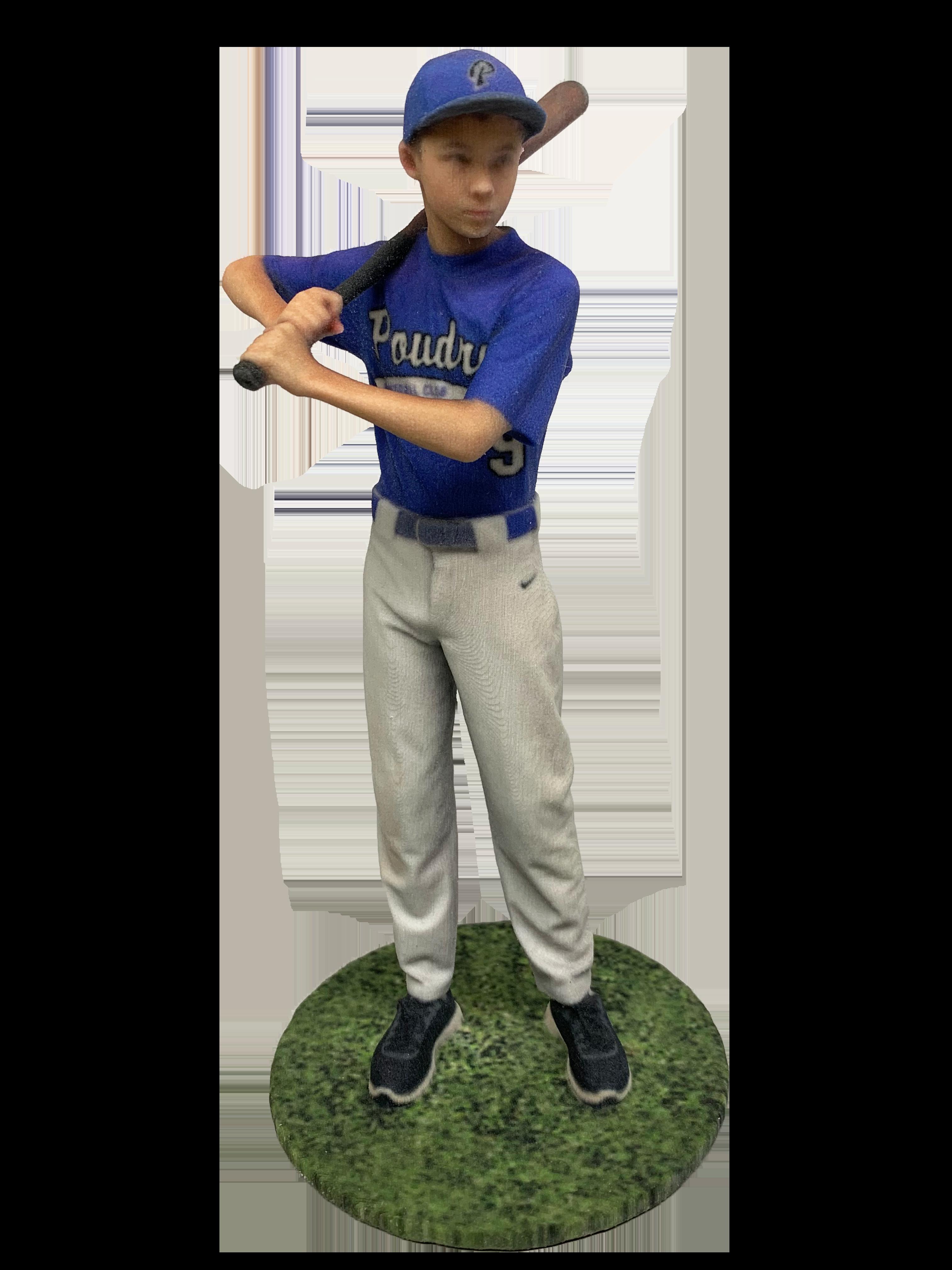 Baseball player figurine